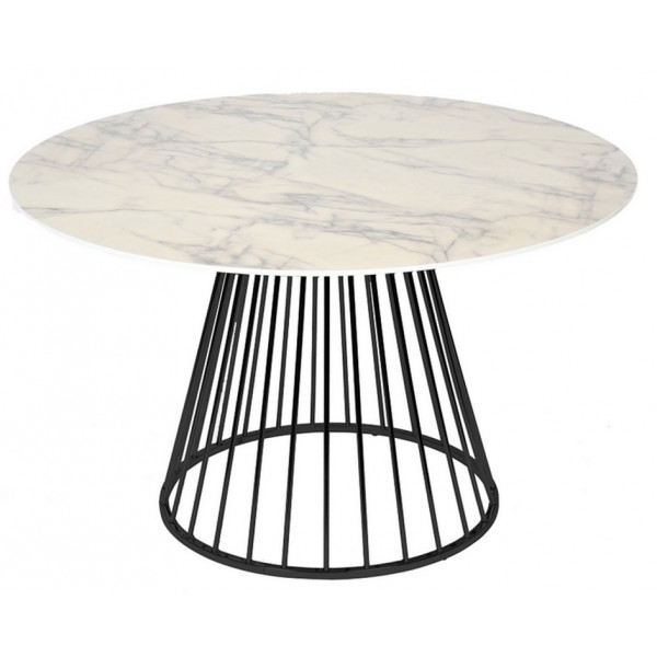 CIRCLE - Marble aspect round Dining table
