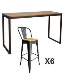 Ensemble table haute Clear Nevada 180