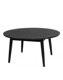 FAB - Table basse ronde bois noir fab