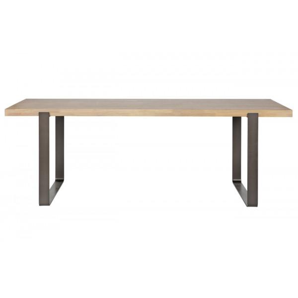 ATELIER - Table de repas acier et chêne