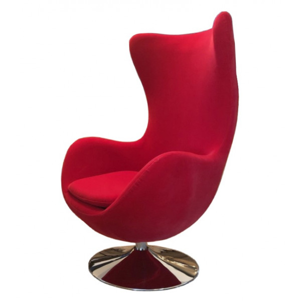 Fauteuil design Suede rouge