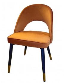 Chaise velours orange Ardec