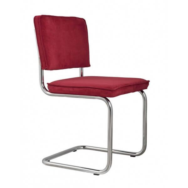 Chaise rétro classic rouge