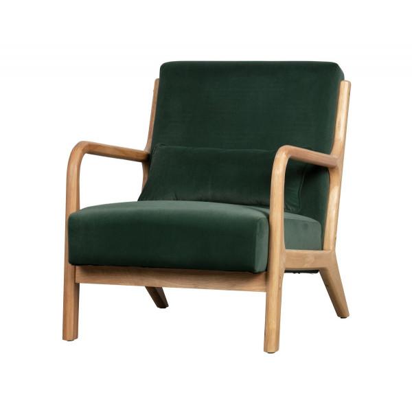 MARK - Green velvet armchair