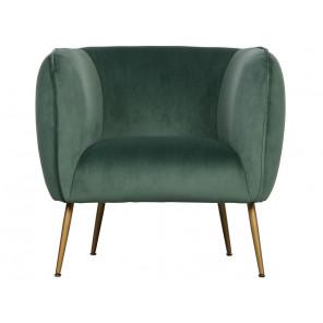 SCOUT - Green velvet armchair