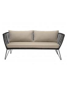 MUNDO - Outdoor sofa with black ropes