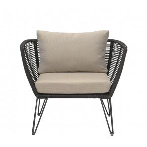 MUNDO - Black outdoor armchair