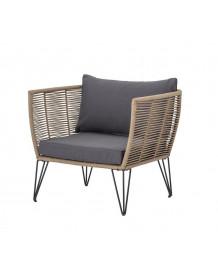 MUNDO - Brown outdoor lounge chair