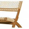 LOIS - Brown foldable outdoor lounge chair