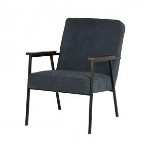 SALLY - Blue ribcord arm chair