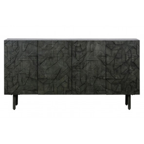 COUNTER - Buffet sculpté en bois noir