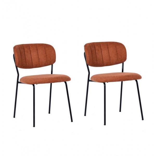 Chaise de repas orange Bellagio