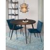 HAVANE - Table de repas ronde en bois noir 110