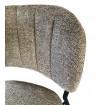 Tissu taupe chaise Bellagio