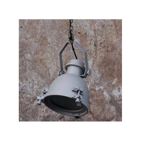 Lustre industriel suspension acier b ton suspension for Suspension cuisine originale