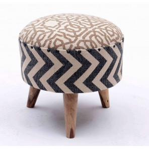 Wooven Kilim low Stool