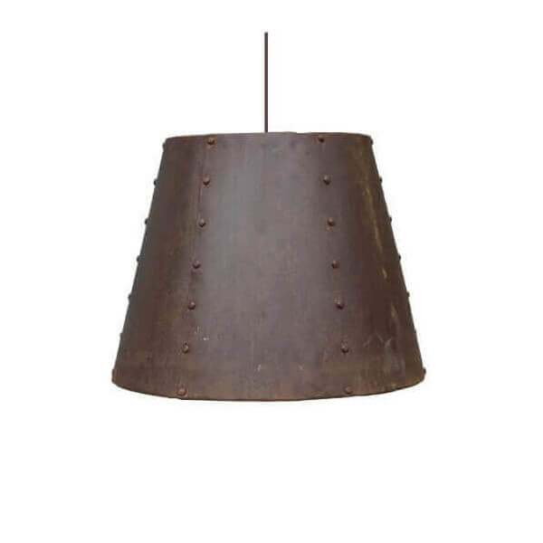 Rusted hanging lamp