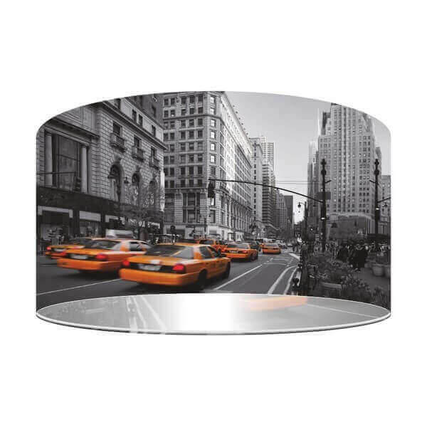Street Pendant Lamp Representing New York City And Yellow