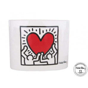 "Vase Keith Haring ""Men With Heart"""