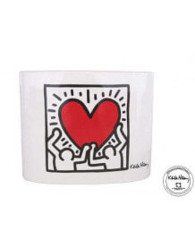 "Vase deco Keith Haring ""Men With Heart"""