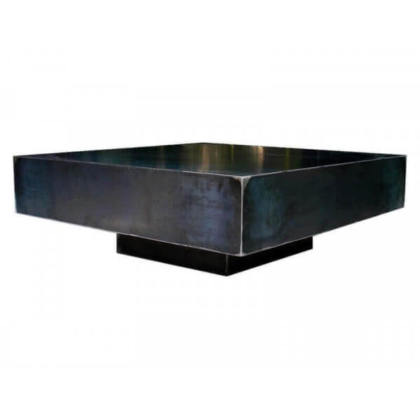 Table basse Metallica acier brut