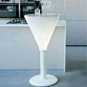 JET SET - Heigh luminous white table