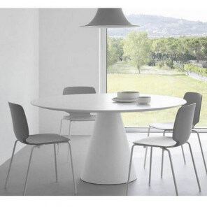 Round Ikon table by Pedrali