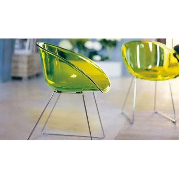 Chaise Gliss Pedrali transparent 263