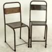 Chaise en metal vintage 2730