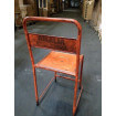 Chaise metal vintage orange