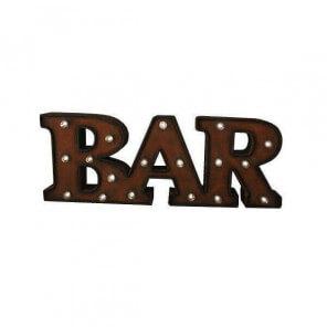 Luminous letters Bar