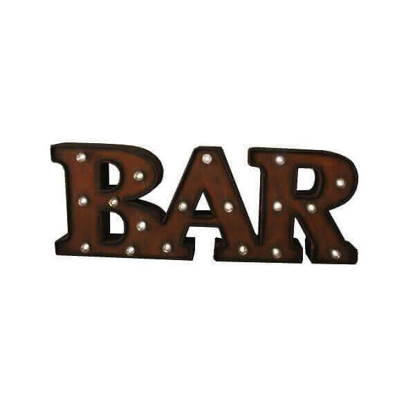 Luminous letters Bar