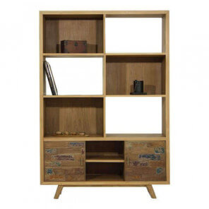 Wood scandinavian bookcase