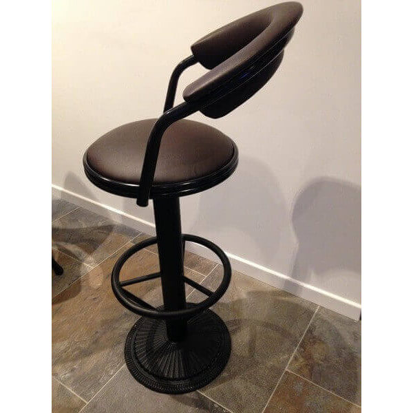 industrial barstool with backrest. Black Bedroom Furniture Sets. Home Design Ideas