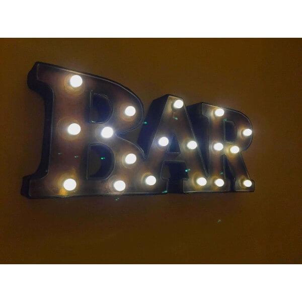 Mot bar lumineux lettres lumineuse led pour d coration for Enseigne deco