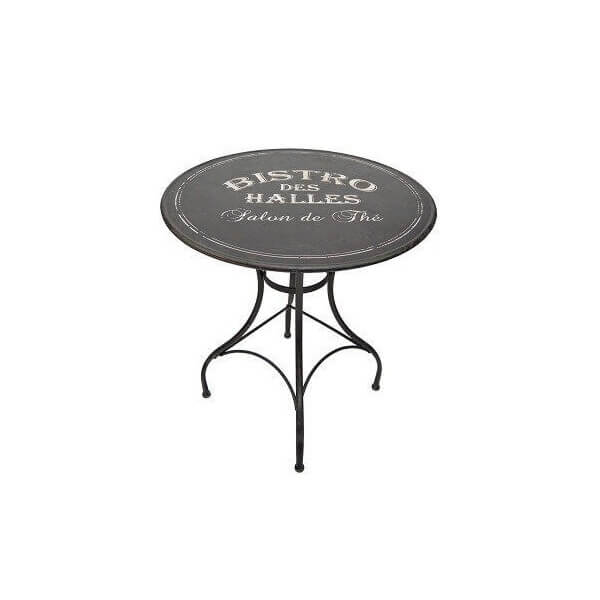 Round black Bistro table