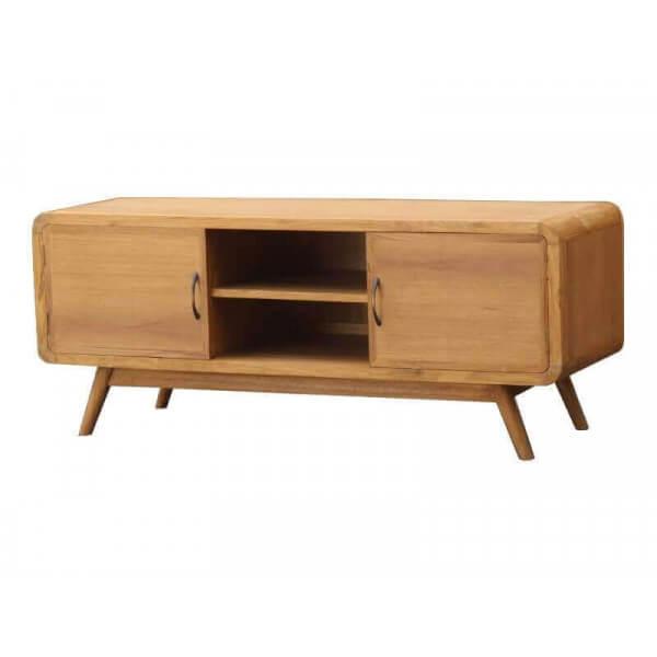 Meuble tv design nordique danish bois massif retro tendance for Meuble design nordique