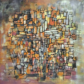 Abstract painting Labyrinth