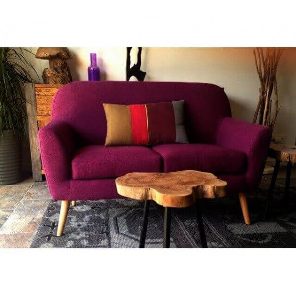 Design sofa scandinavian pop two purple squares for Sofa exterior wallapop