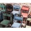 Chaise en metal vintage 395