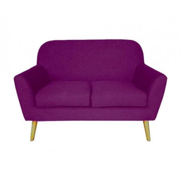 Canap design deux places violet - Canape deux places design ...