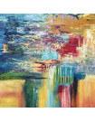 Tableau abstrait Blue Town