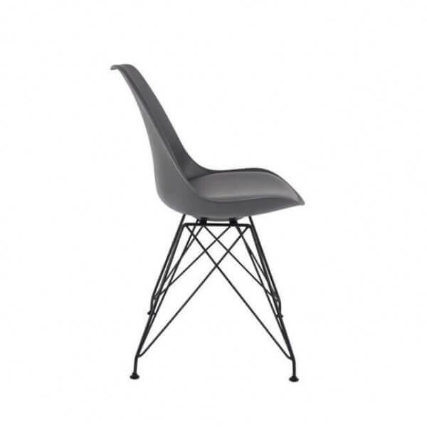 Chaise de repas design grise - Chaises design grises ...