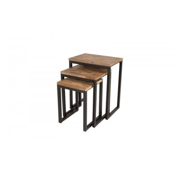 Tables basses de salon design b ton acier bois mathi design - Tables gigognes bois ...