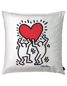 Coussin Men with Heart par Keith Haring