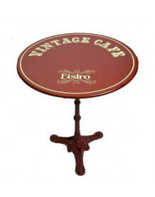 Table café ronde vintage rouge