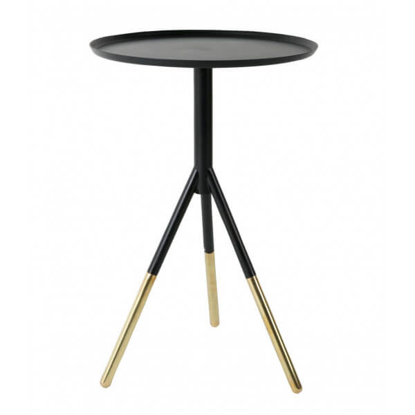 Side Table Iron And Brass