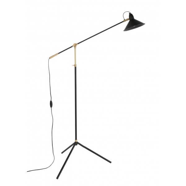 Black adjustable floor lamp