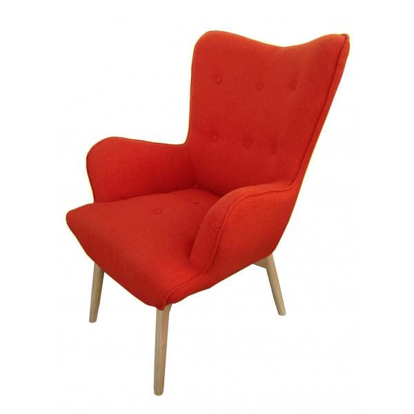 Fauteuil orange style scandinave - Fauteuil design soldes ...