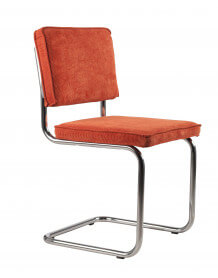 Chaise rétro classic orange